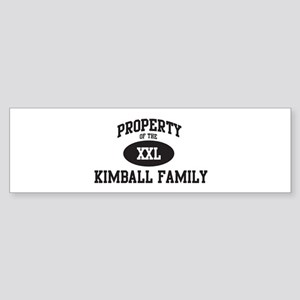 Property of Kimball Family Bumper Sticker