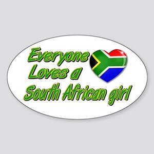 Everyone loves a South African girl Oval Sticker