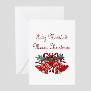 Spanish christmas greeting cards cafepress spanish christmas greeting card m4hsunfo