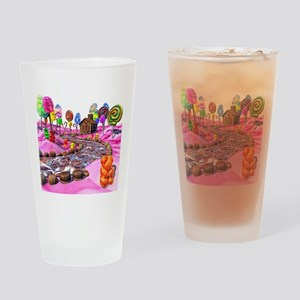 Pink Candyland Drinking Glass