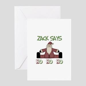 Zachary Says Ho Ho Ho Greeting Card