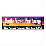 The Desert Dream in Palm Springs. Square Car Magne