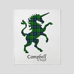 Unicorn-Campbell of Argyll Throw Blanket