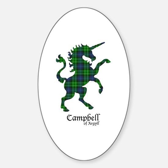Unicorn-Campbell of Argyll Sticker (Oval)