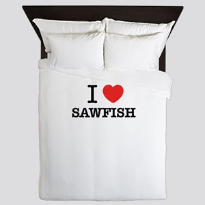 I Love SAWFISH Queen Duvet