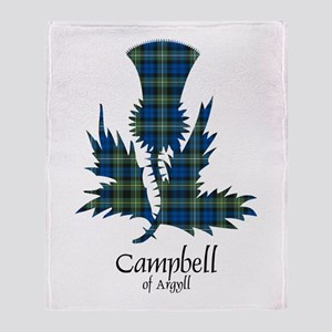 Thistle - Campbell of Argyll Throw Blanket