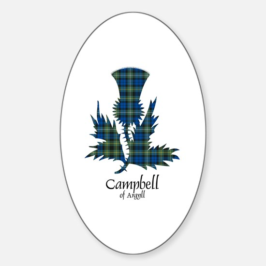 Thistle - Campbell of Argyll Sticker (Oval)