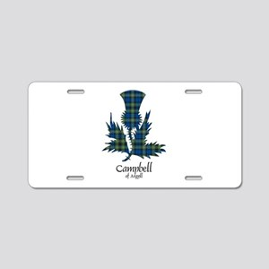 Thistle - Campbell of Argyll Aluminum License Plat