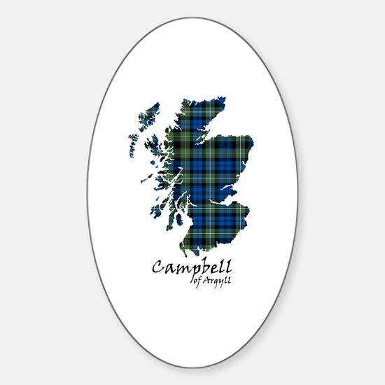 Map - Campbell of Argyll Sticker (Oval)