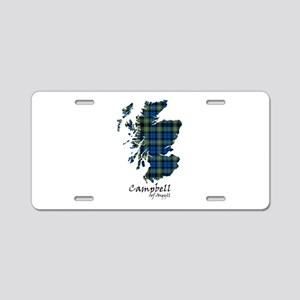 Map - Campbell of Argyll Aluminum License Plate