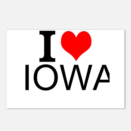 I Love Iowa Postcards (Package of 8)