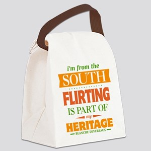 Flirting is Part of My Heritage Canvas Lunch Bag