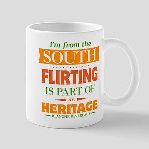 Flirting is Part of My Heritage Mug