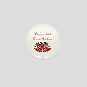 Polish Christmas Mini Button