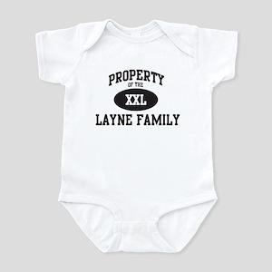 Property of Layne Family Infant Bodysuit