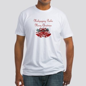 Filipino Christmas Fitted T-Shirt