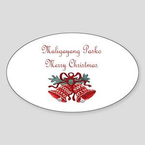Filipino Christmas Oval Sticker