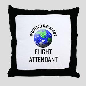 World's Greatest FLIGHT ATTENDANT Throw Pillow