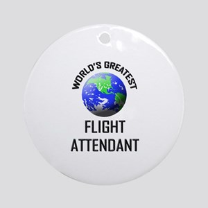 World's Greatest FLIGHT ATTENDANT Ornament (Round)