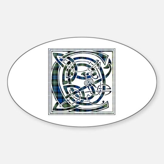 Monogram - Campbell of Argyll Sticker (Oval)