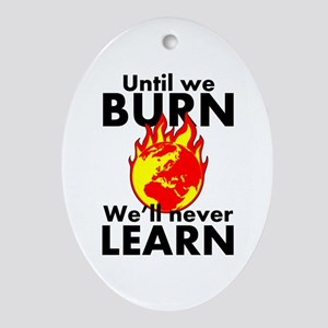 Burn and Learn Oval Ornament