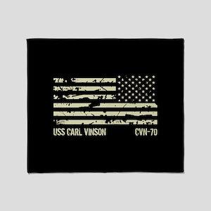 USS Carl Vinson Throw Blanket