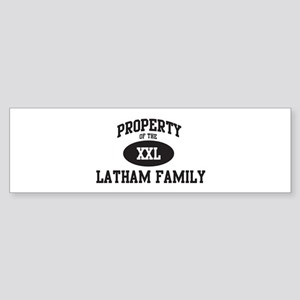 Property of Latham Family Bumper Sticker
