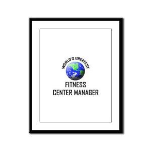 World's Greatest FITNESS CENTER MANAGER Framed Pan
