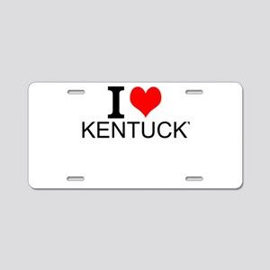 I Love Kentucky Aluminum License Plate