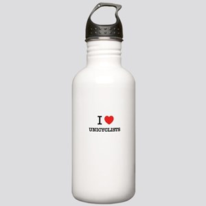 I Love UNICYCLISTS Stainless Water Bottle 1.0L