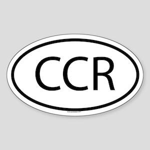 CCR Oval Sticker