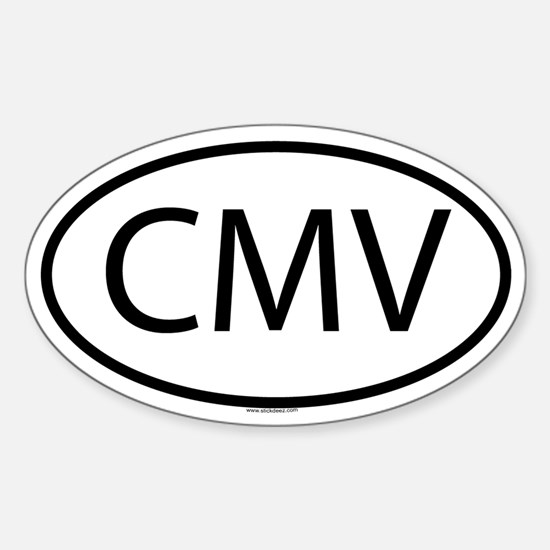 CMV Oval Decal