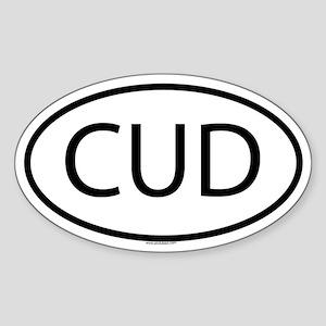 CUD Oval Sticker