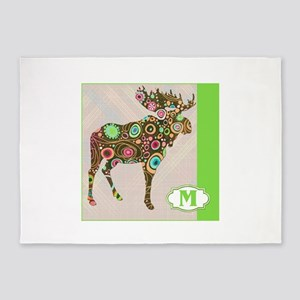 M is for Moose 5'x7'Area Rug