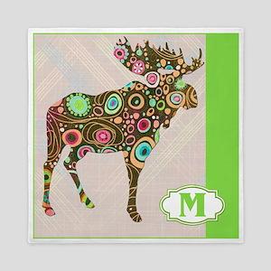M is for Moose Queen Duvet