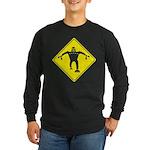 Caution Robots Sign Long Sleeve T-Shirt
