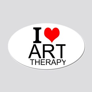 I Love Art Therapy Wall Decal