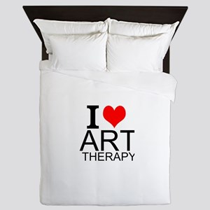 I Love Art Therapy Queen Duvet
