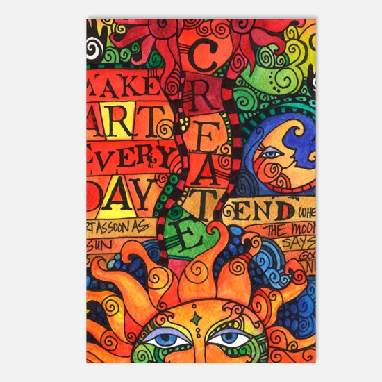 Funny Art Postcards (Package of 8)