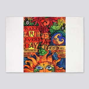 Create Art Every Day 5'x7'Area Rug
