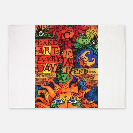 Create Art Every Day 5'x7'Area Rug