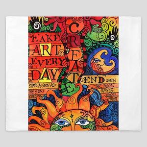 Create Art Every Day King Duvet