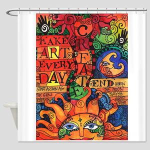 Create Art Every Day Shower Curtain