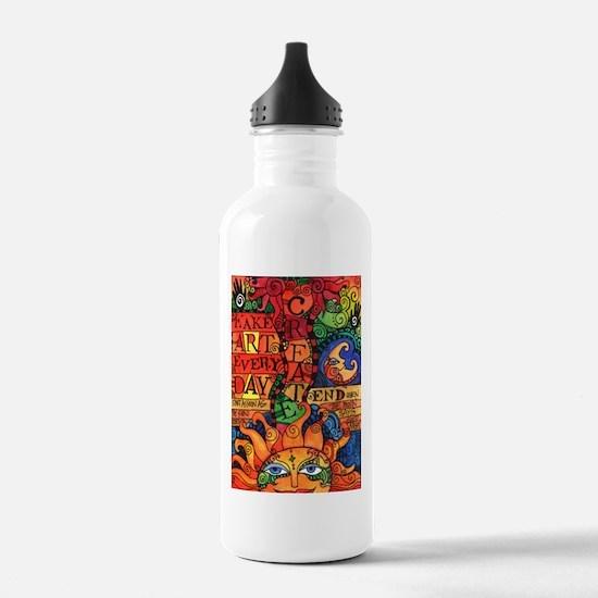 Create Art Every Day Water Bottle