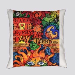 Create Art Every Day Everyday Pillow