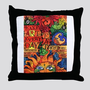 Create Art Every Day Throw Pillow