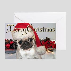 CARD -  Pug Christmas Card (Pk of 10)