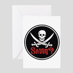 Savvy? Pirate Flag Greeting Card