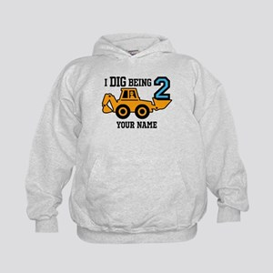 I Dig Being 2 Personalized Kids Hoodie