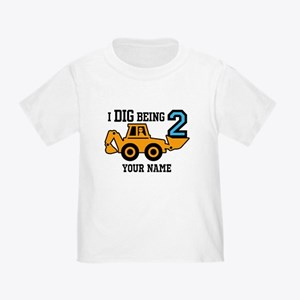I Dig Being 2 Personalized Toddler T-Shirt